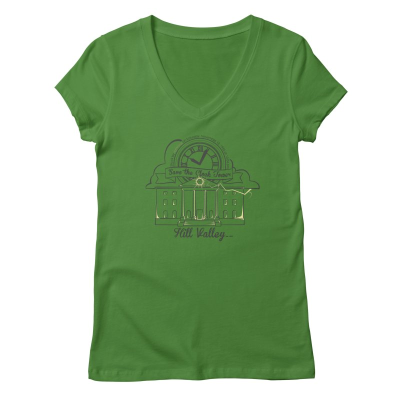Save the clock tower v2 Women's Regular V-Neck by nrdshirt's Shop
