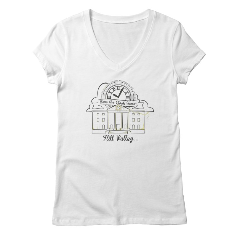 Save the clock tower v2 Women's V-Neck by nrdshirt's Shop