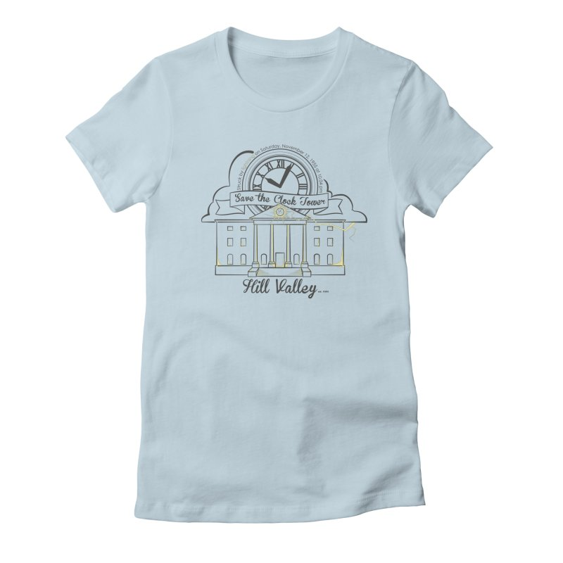 Save the clock tower v2 Women's Fitted T-Shirt by nrdshirt's Shop