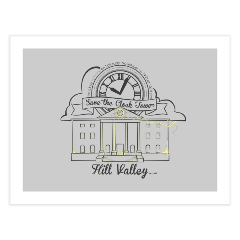 Save the clock tower v2 Home Fine Art Print by nrdshirt's Shop