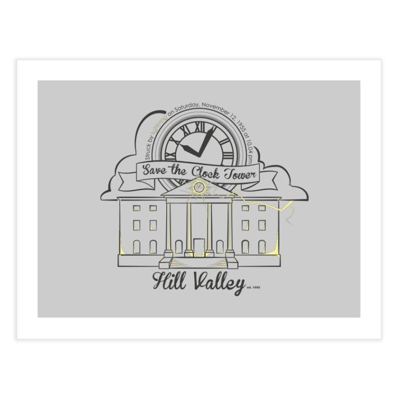 Save the clock tower v2 Home Fine Art Print by nrdshirt's Shop