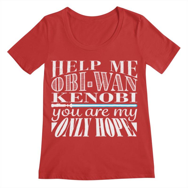 Help Me! Women's Regular Scoop Neck by nrdshirt's Shop