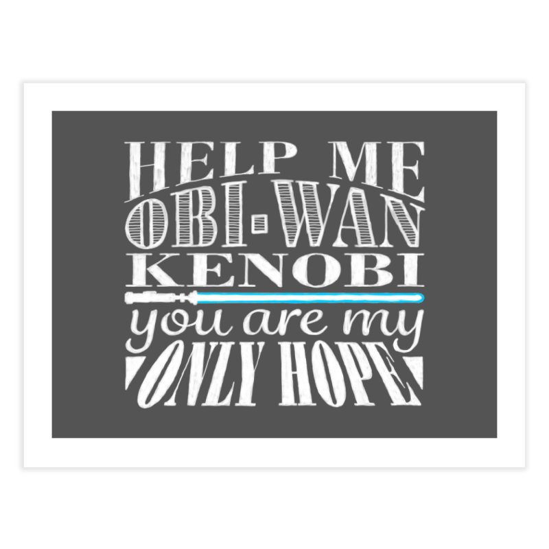 Help Me! Home Fine Art Print by nrdshirt's Shop