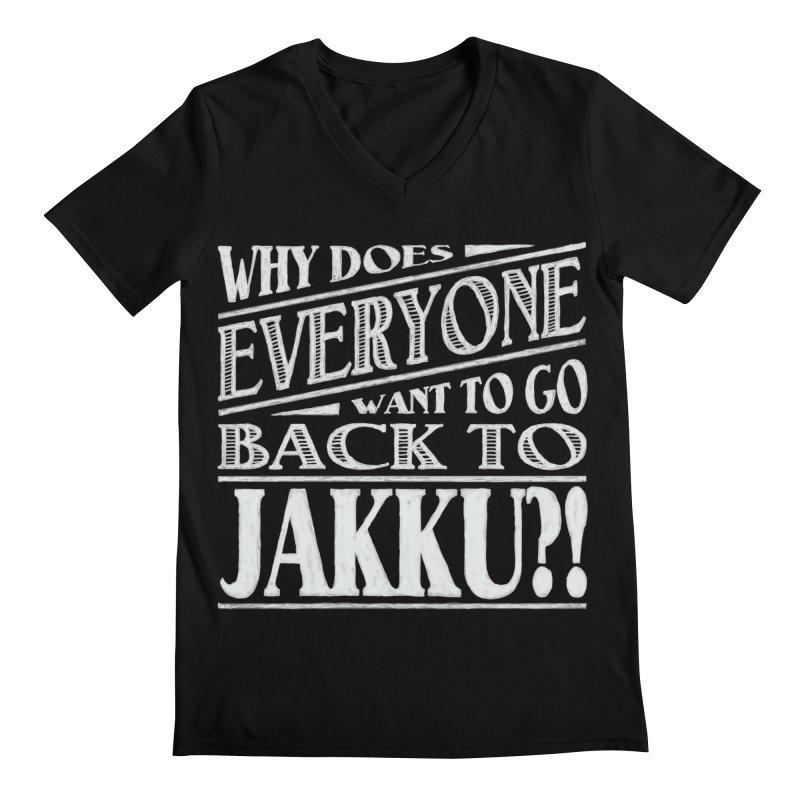 Back To Jakku Men's Regular V-Neck by nrdshirt's Shop