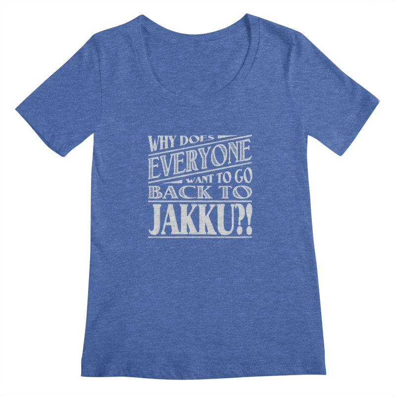 Back To Jakku Women's Scoopneck by nrdshirt's Shop