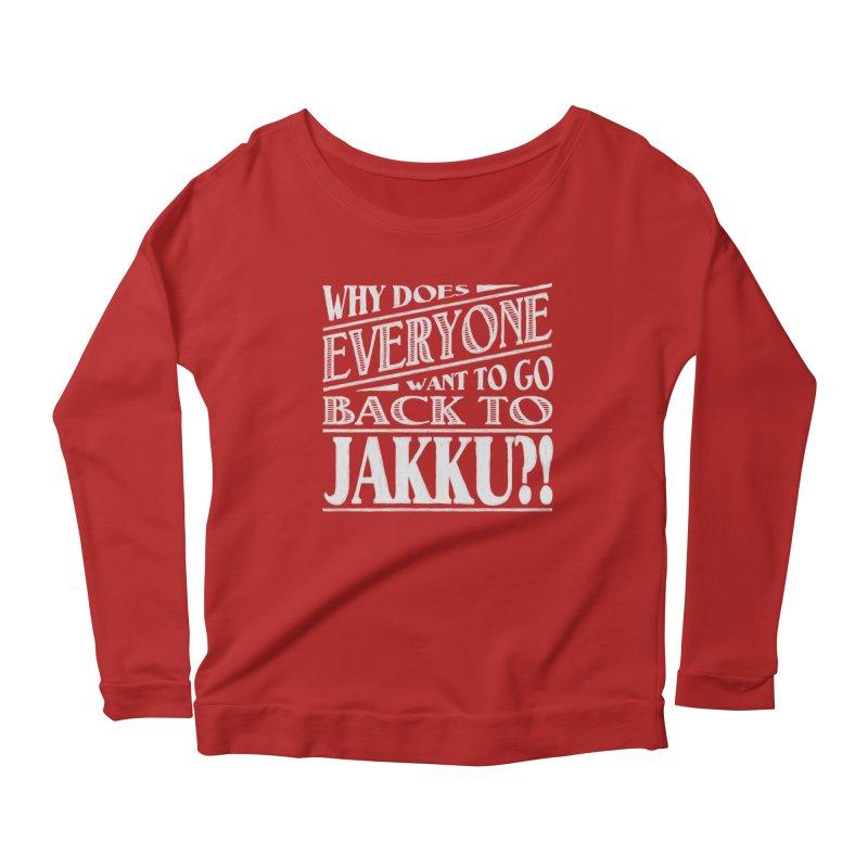 Back To Jakku Women's Longsleeve Scoopneck  by nrdshirt's Shop