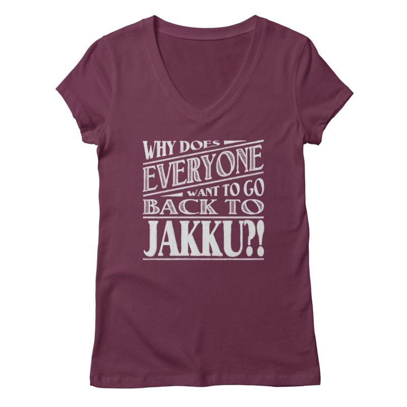 Back To Jakku Women's V-Neck by nrdshirt's Shop