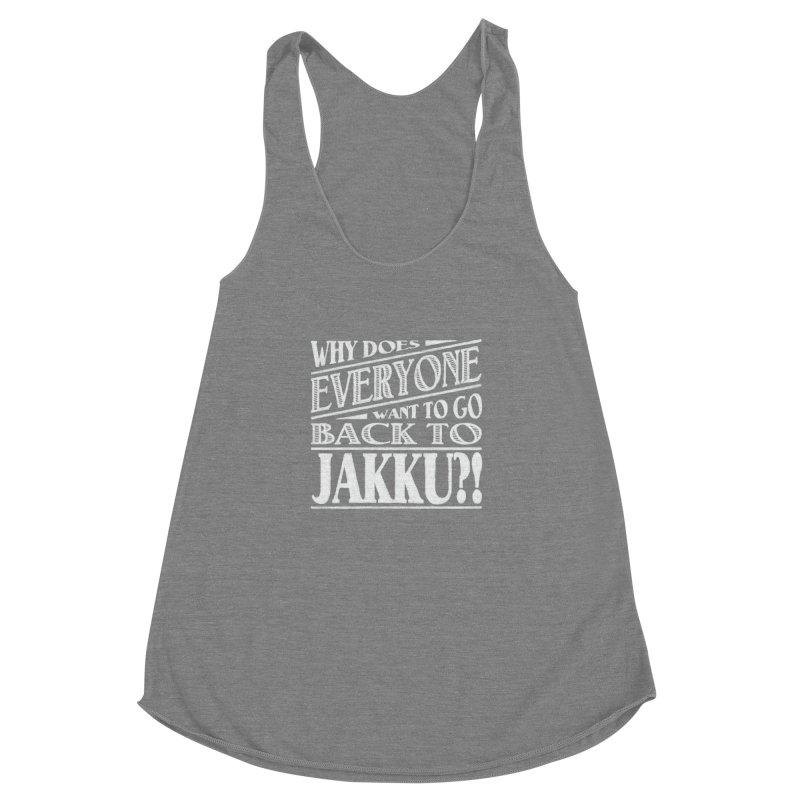 Back To Jakku Women's Racerback Triblend Tank by nrdshirt's Shop