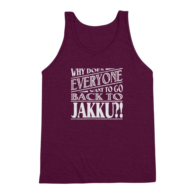 Back To Jakku Men's Triblend Tank by nrdshirt's Shop