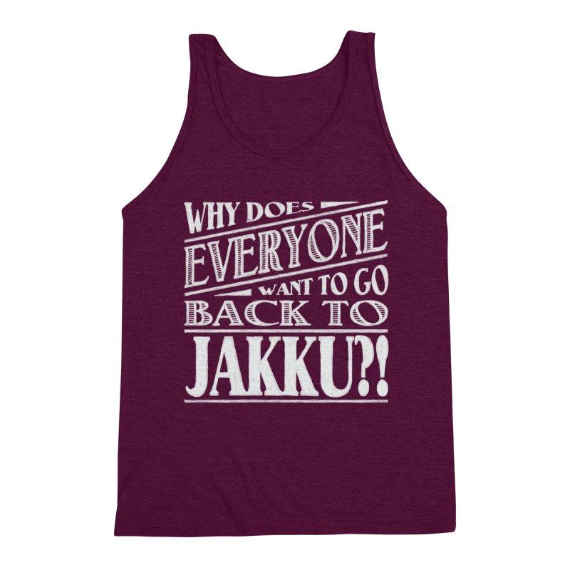 Back To Jakku Men's Triblend Tank by nrdshirt's Shop