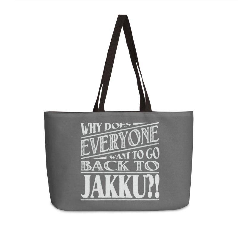 Back To Jakku Accessories Weekender Bag Bag by nrdshirt's Shop