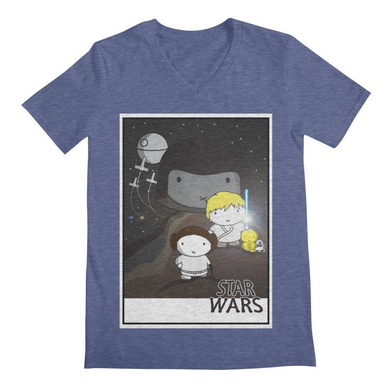 Mini Wars Ep IV Men's Regular V-Neck by nrdshirt's Shop