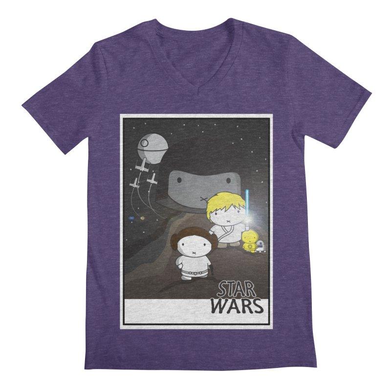 Mini Wars Ep IV Men's V-Neck by nrdshirt's Shop