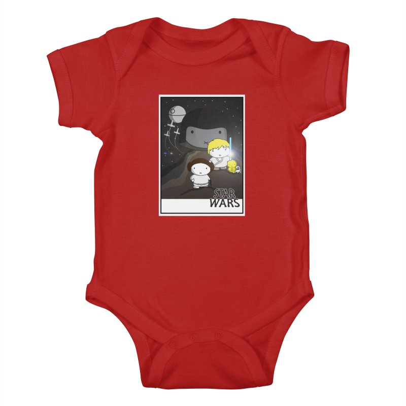 Mini Wars Ep IV Kids Baby Bodysuit by nrdshirt's Shop