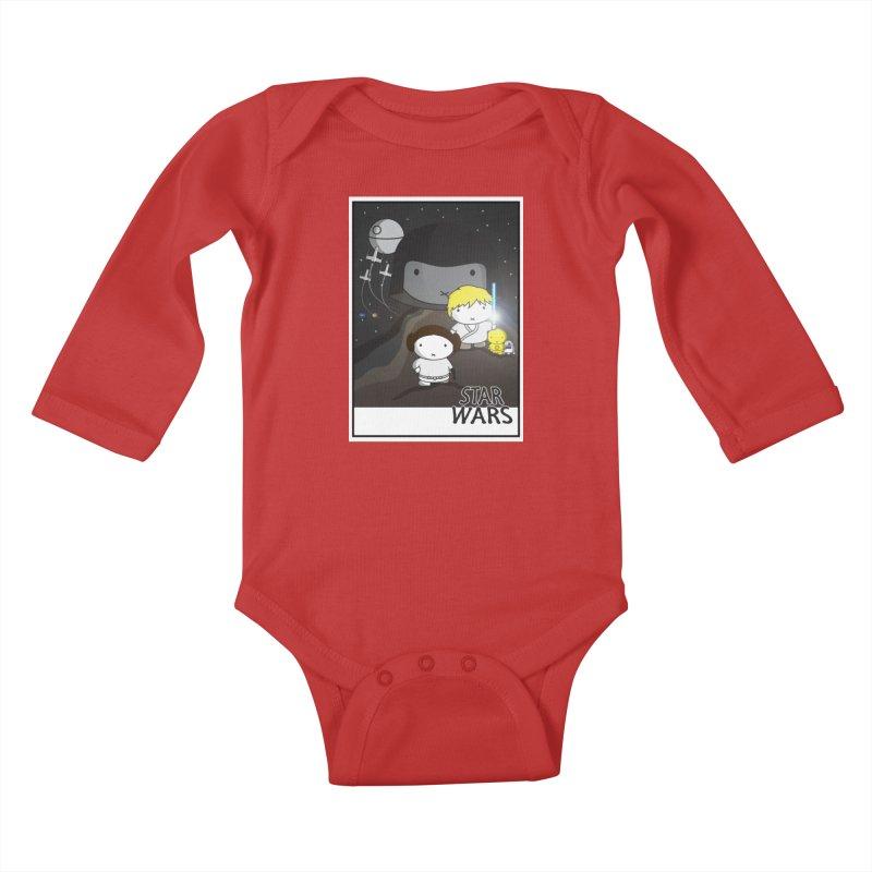 Mini Wars Ep IV Kids Baby Longsleeve Bodysuit by nrdshirt's Shop