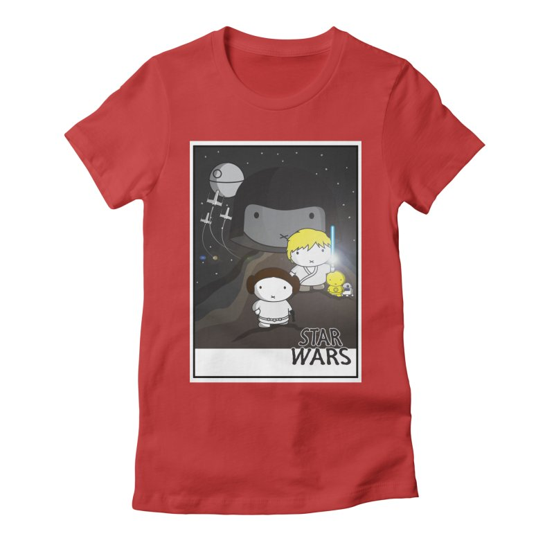 Mini Wars Ep IV Women's Fitted T-Shirt by nrdshirt's Shop