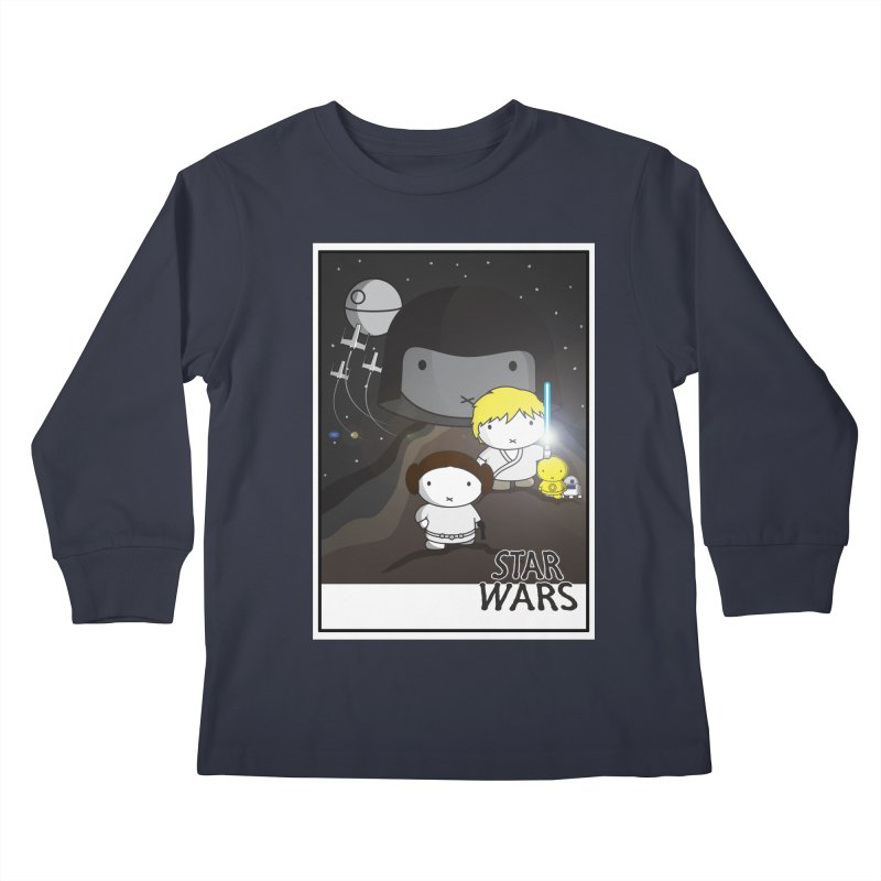 Mini Wars Ep IV Kids Longsleeve T-Shirt by nrdshirt's Shop