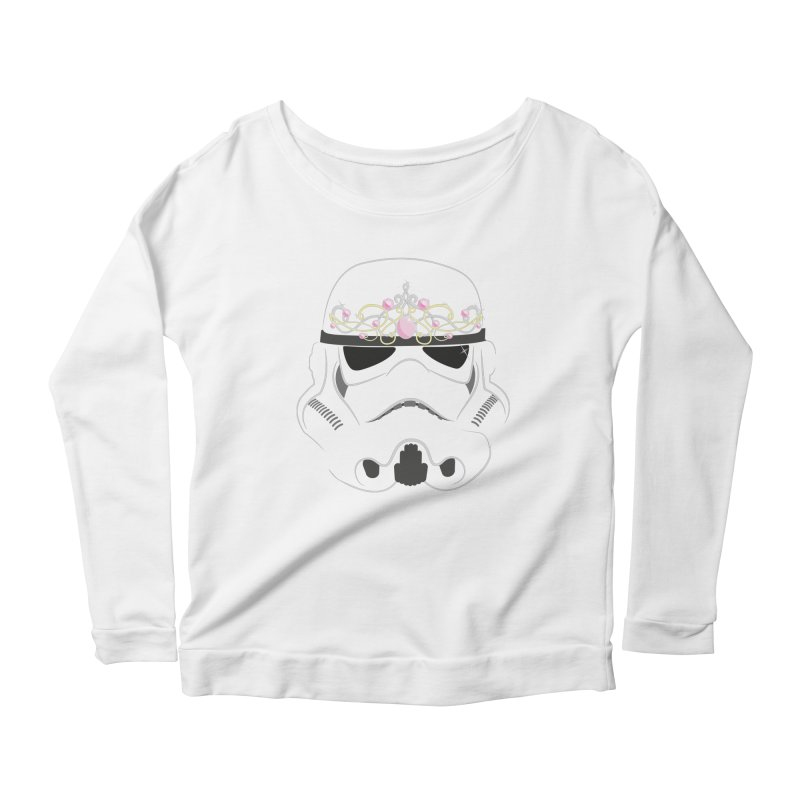 Sparkly ANH Trooper Women's Longsleeve Scoopneck  by nrdshirt's Shop