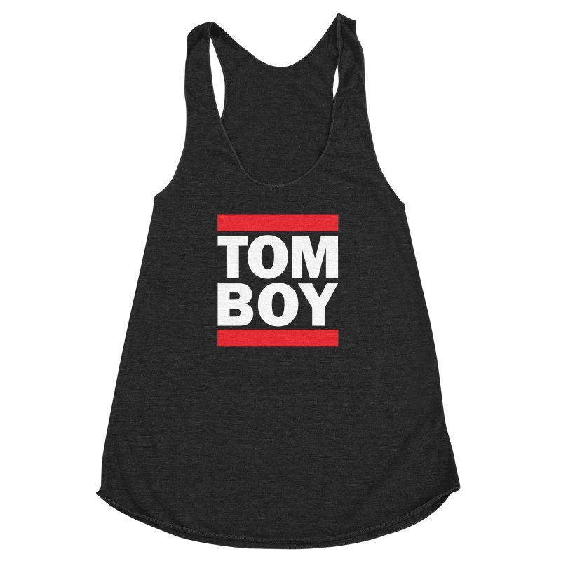 TOM-BOY Women's Racerback Triblend Tank by nshanemartin's Artist Shop