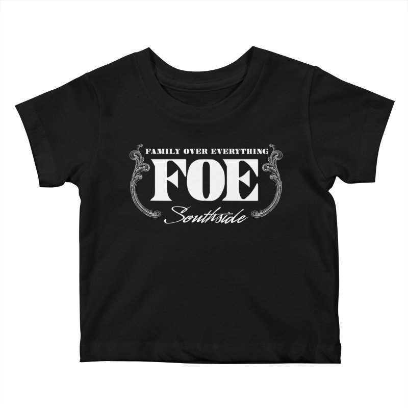 Family Over Everything Kids Baby T-Shirt by nshanemartin's Artist Shop