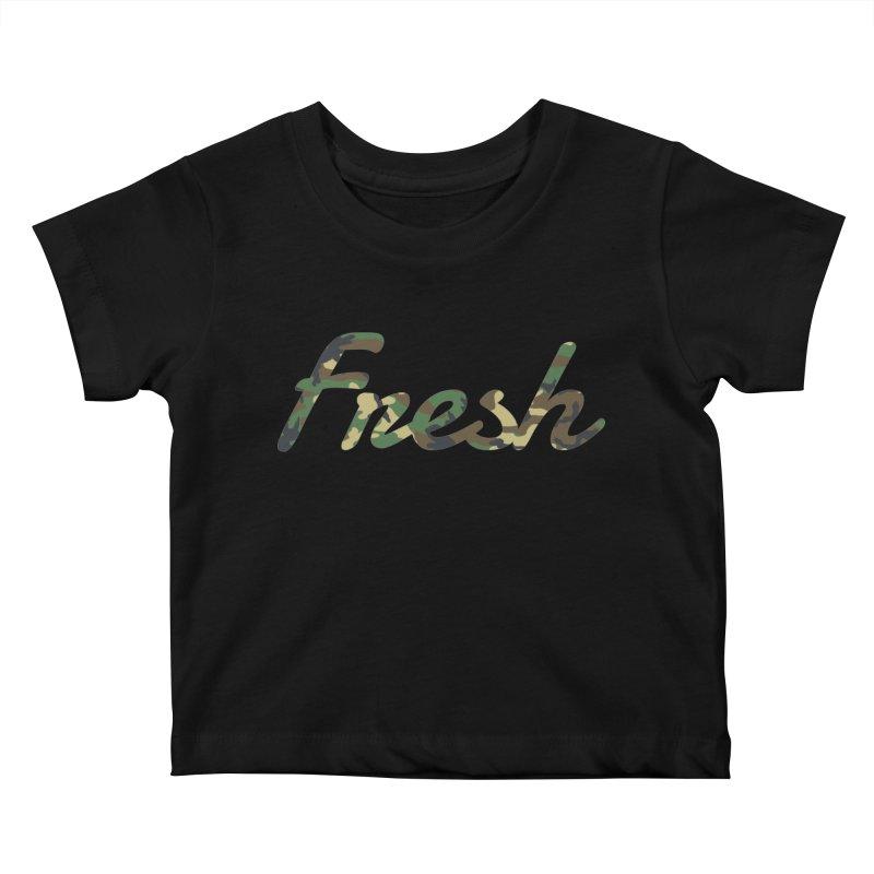 Fresh Kids Baby T-Shirt by nshanemartin's Artist Shop
