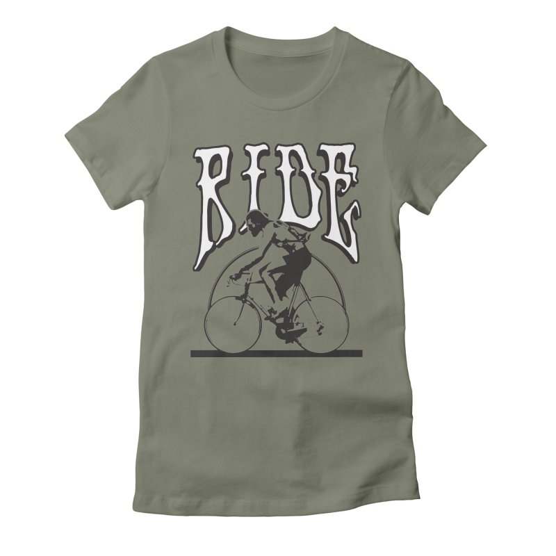 RIDE Women's Fitted T-Shirt by nshanemartin's Artist Shop