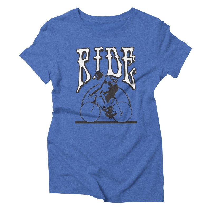 RIDE Women's Triblend T-shirt by nshanemartin's Artist Shop