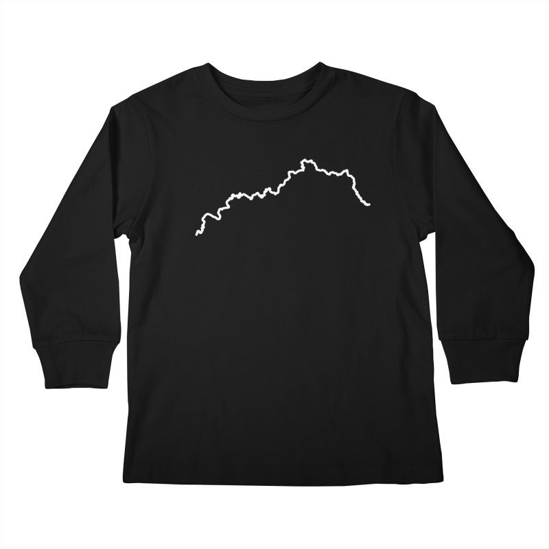 One Line Drawing Kids Longsleeve T-Shirt by nshanemartin's Artist Shop