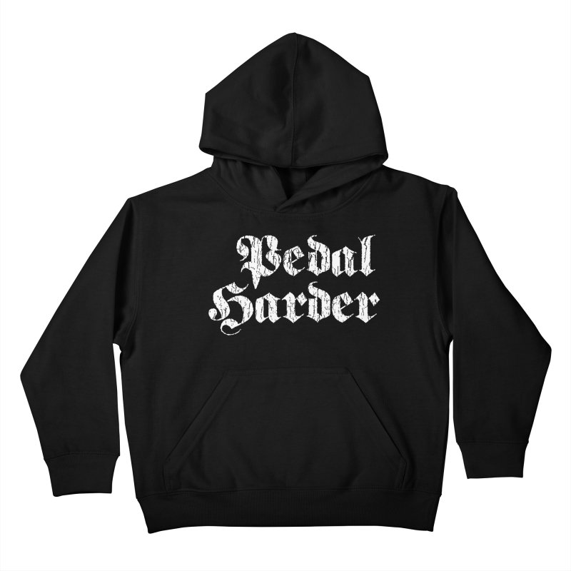 Pedal Harder Kids Pullover Hoody by nshanemartin's Artist Shop