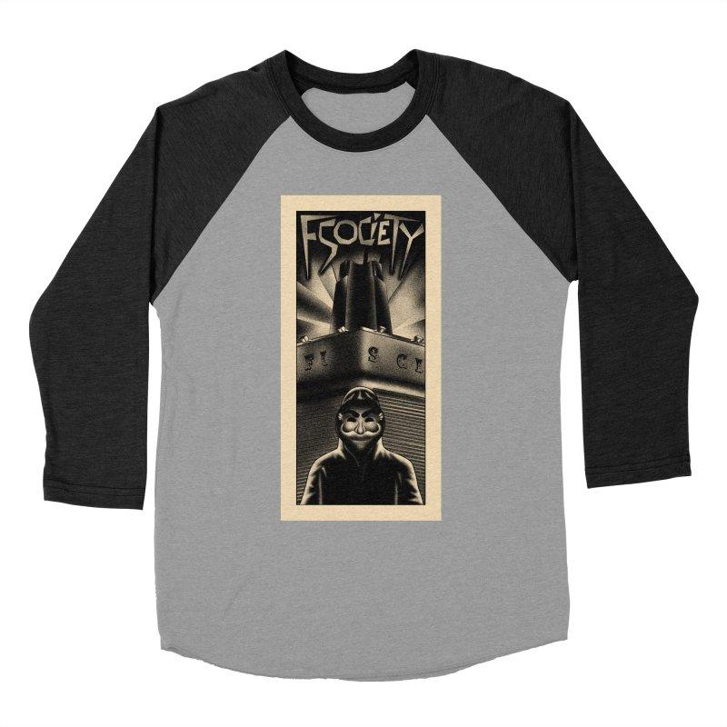 Democracy hacked Women's Baseball Triblend T-Shirt by ntesign's Artist Shop