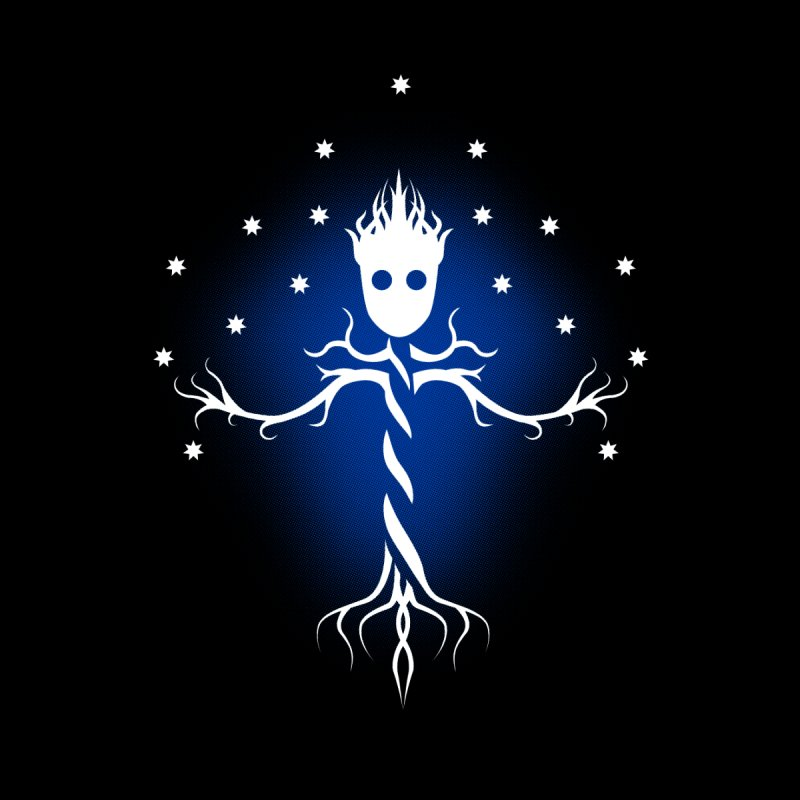 Guardian tree of the galaxy None  by ntesign's Artist Shop