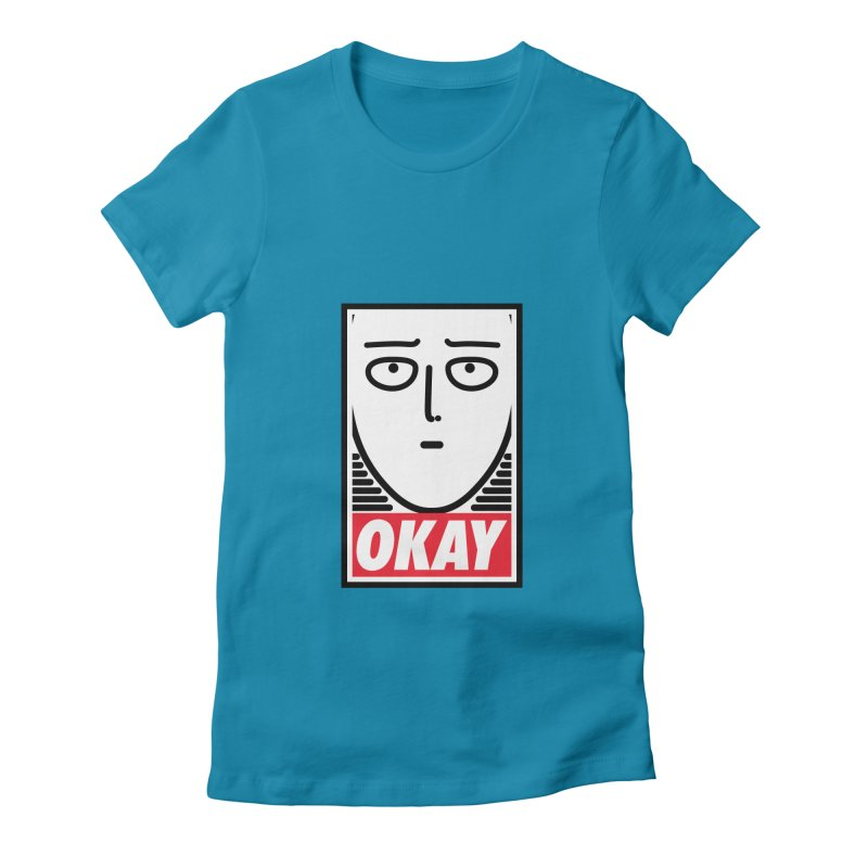 OK. Women's Fitted T-Shirt by ntesign's Artist Shop