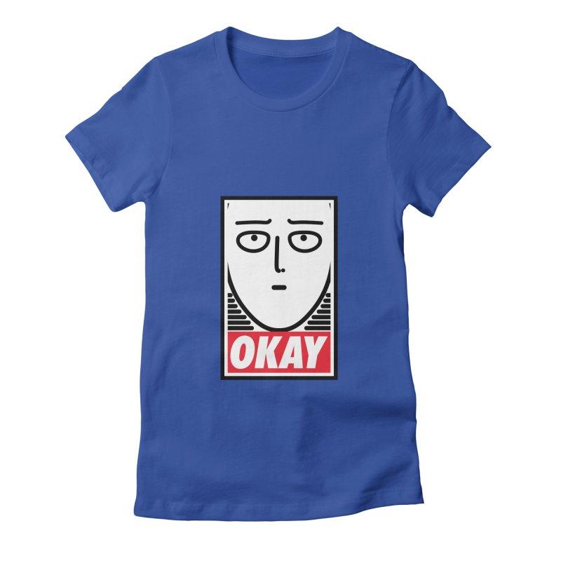 OK. Women's Fitted T-Shirt by ntesign's Artist Shop