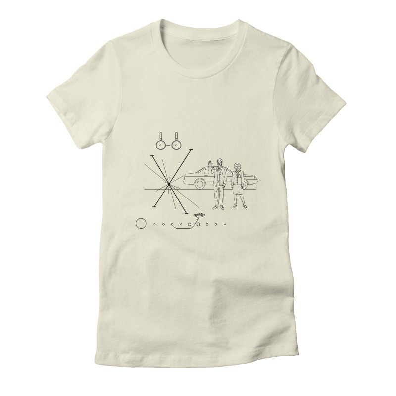 X plaque Women's Fitted T-Shirt by ntesign's Artist Shop