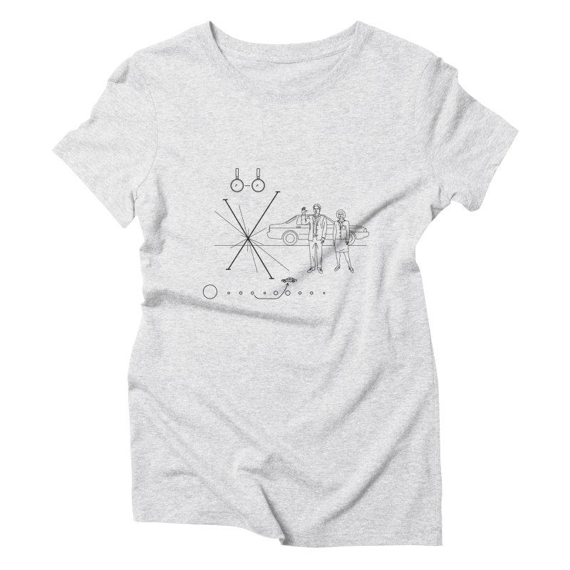 X plaque Women's Triblend T-shirt by ntesign's Artist Shop