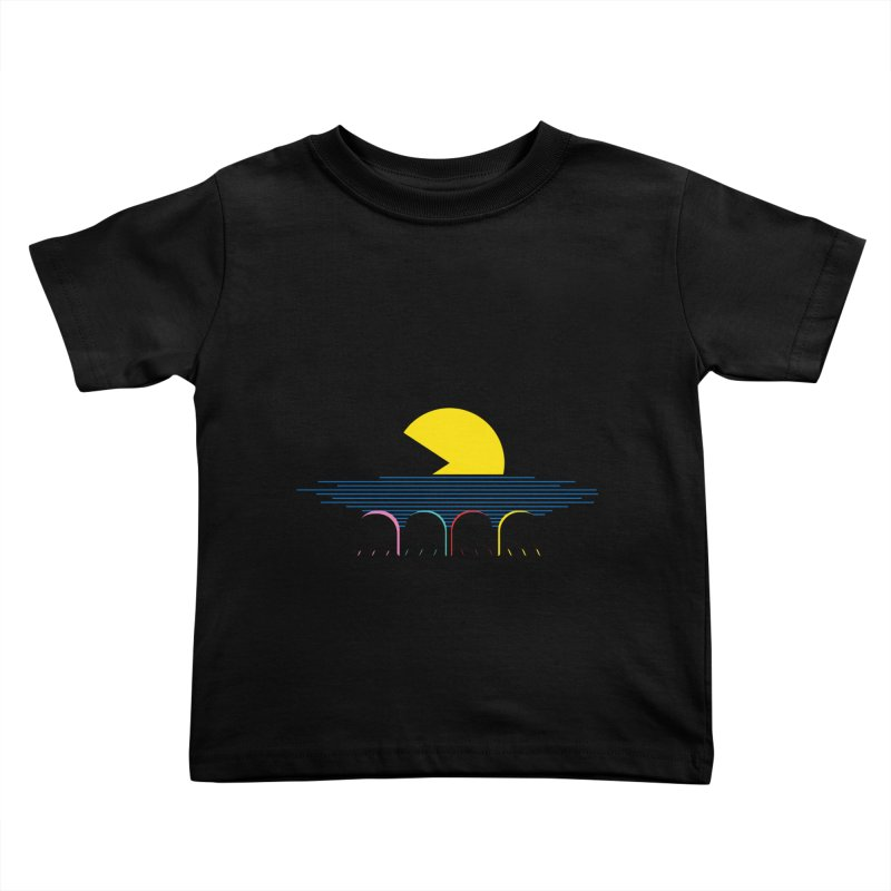 Retro sunset Kids Toddler T-Shirt by ntesign's Artist Shop