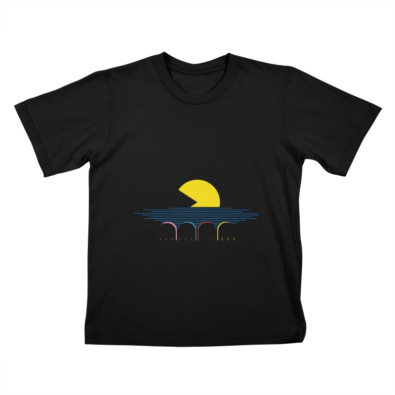 Retro sunset Kids T-shirt by ntesign's Artist Shop