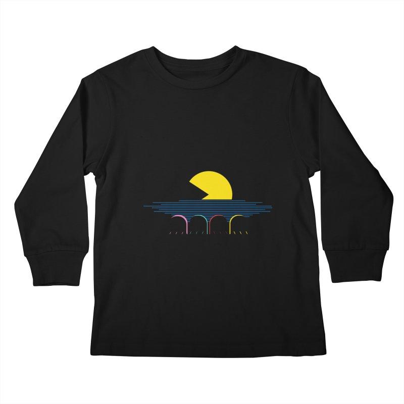 Retro sunset Kids Longsleeve T-Shirt by ntesign's Artist Shop