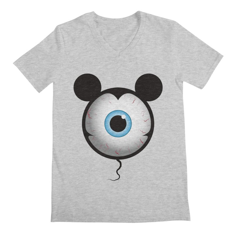 Cyclops Mouse Men's V-Neck by Numb Skull