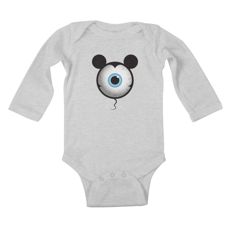 Cyclops Mouse Kids Baby Longsleeve Bodysuit by Numb Skull