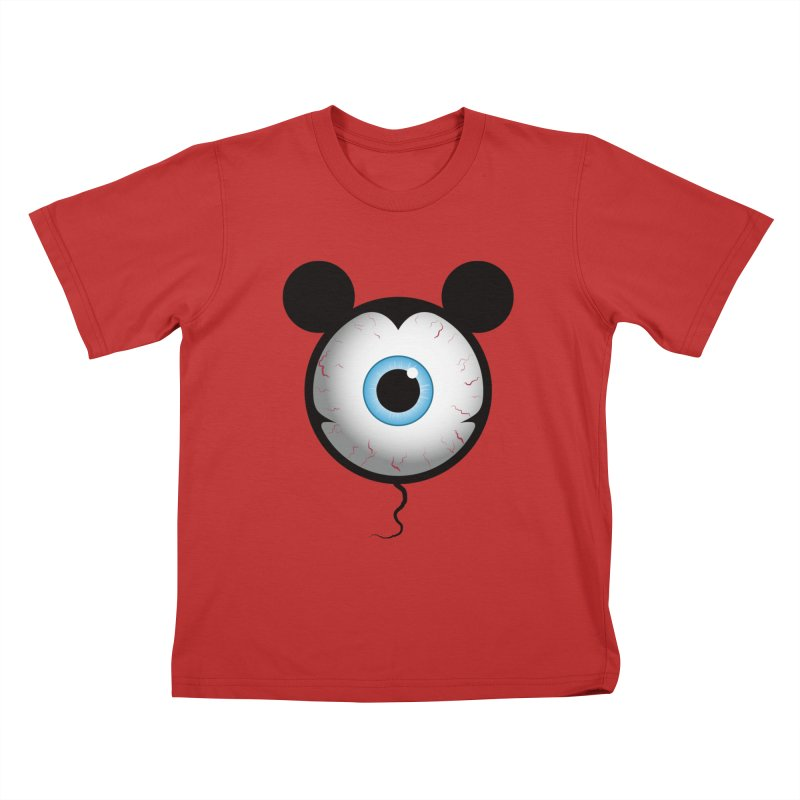 Cyclops Mouse Kids T-Shirt by Numb Skull