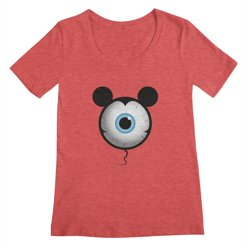 Cyclops Mouse Women's Scoopneck by Numb Skull