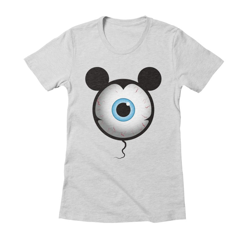 Cyclops Mouse Women's Fitted T-Shirt by Numb Skull