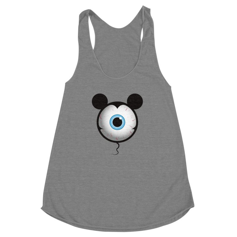 Cyclops Mouse Women's Racerback Triblend Tank by Numb Skull