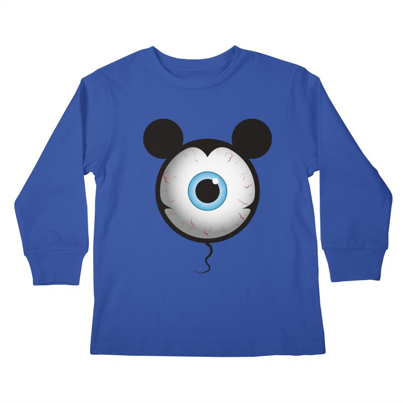Cyclops Mouse Kids Longsleeve T-Shirt by Numb Skull