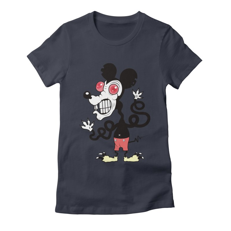 That Dirty Rat Women's Fitted T-Shirt by Numb Skull