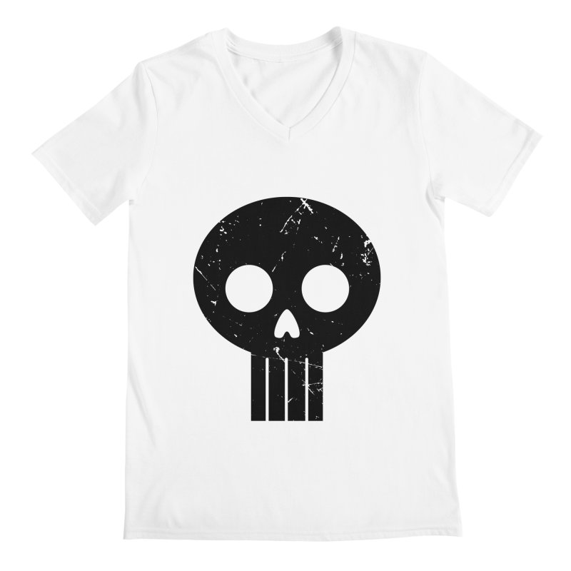 Numbskull (BLK) Men's V-Neck by Numb Skull