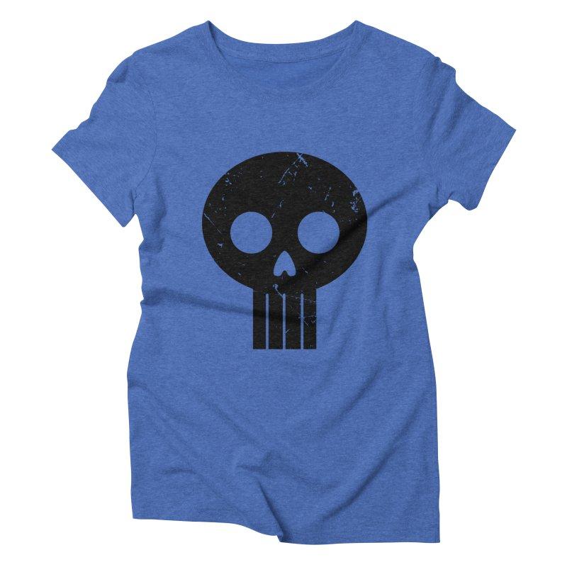 Numbskull (BLK) Women's Triblend T-shirt by Numb Skull