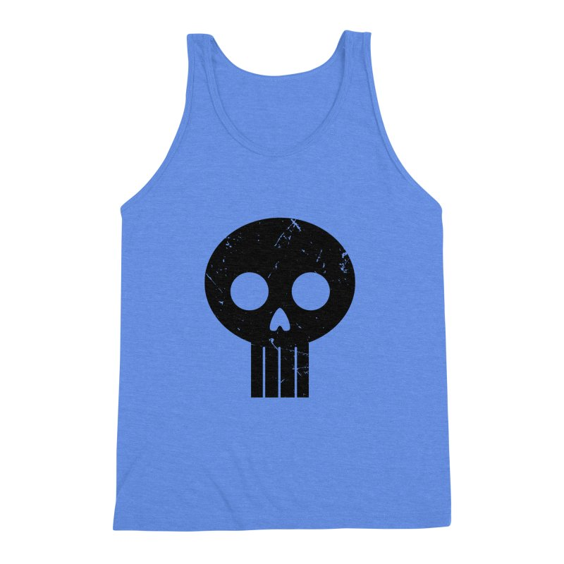 Numbskull (BLK) Men's Triblend Tank by Numb Skull