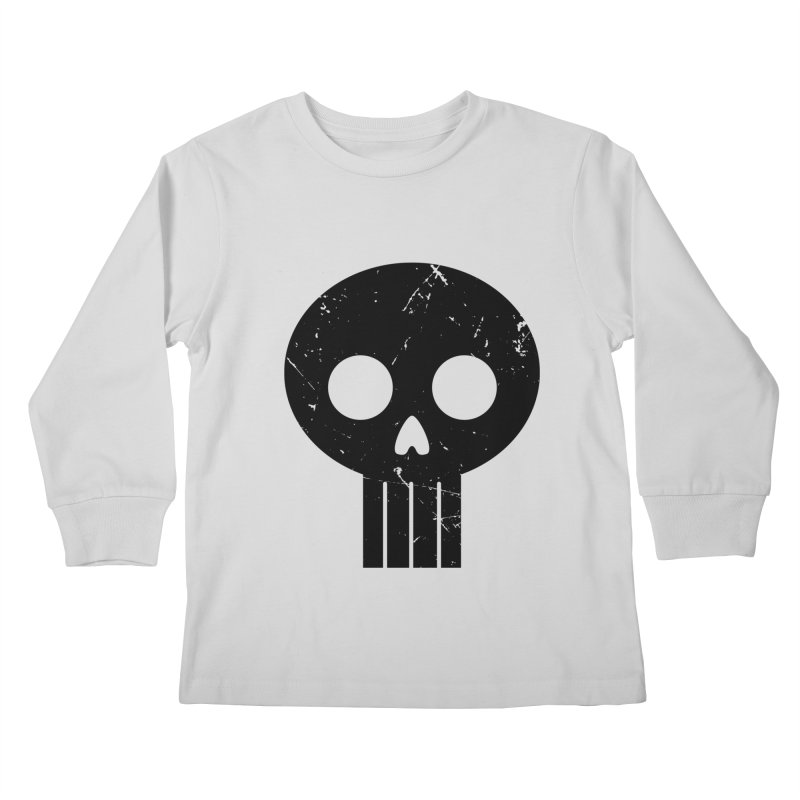 Numbskull (BLK) Kids Longsleeve T-Shirt by Numb Skull
